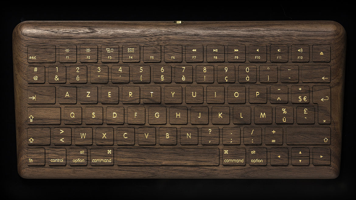 inspiration - coque pour magic keyboard - noyer