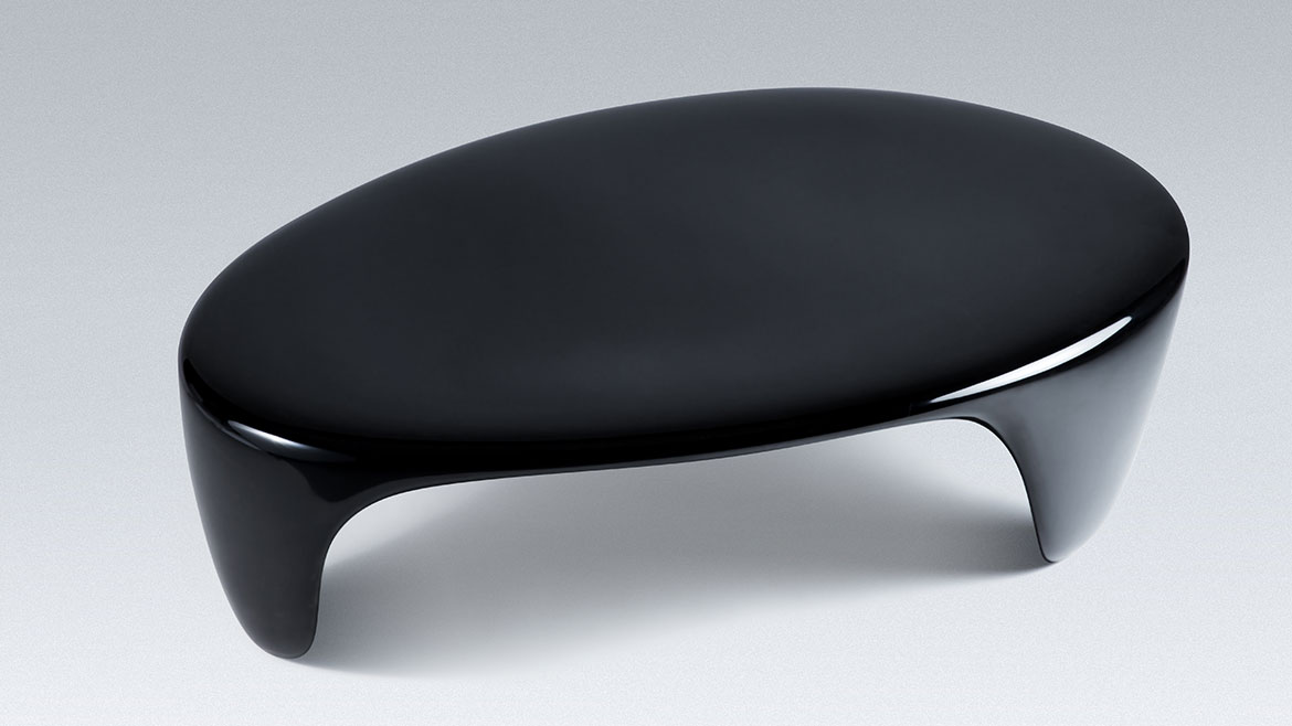 onishiblack - table basse - laque urushi